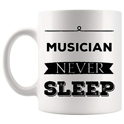 Musician Mug Coffee Cup - Music Song Drum Guitar Bass Drummer Singer Dancer Songwriter Funny Gift for Men Women Cups