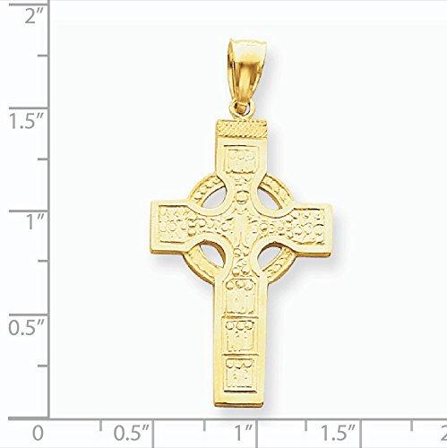 14 Carats Pendentif celtique croix-Dimensions :  33 x 22 mm-JewelryWeb