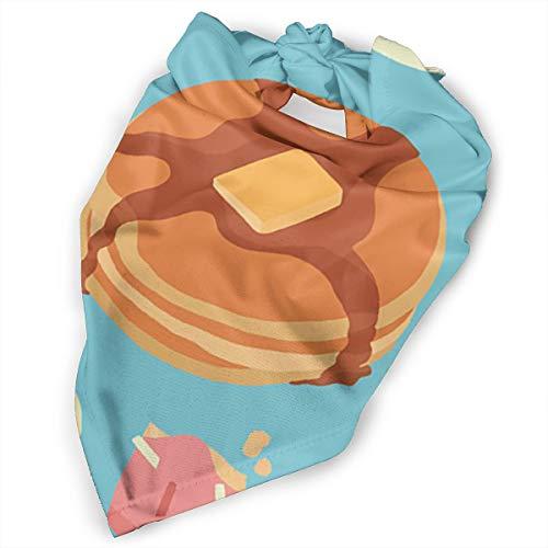 Pet Scarf Dog Bandana Bibs Triangle Head Scarfs Breakfast Pattern Strawberry Accessories for Cats Baby -