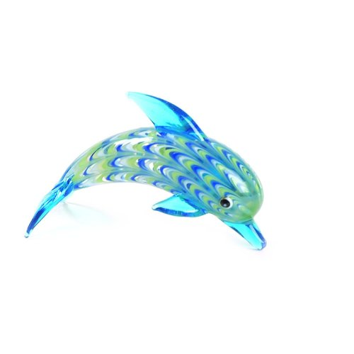 Fitz and Floyd Glass Menagerie Dolphin ()
