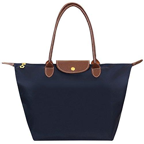Waterproof Hobos Beach Fold Blue Tote Navy Mynos blue Women's Brand Stylish Zipper Bag navy Shoulder Handbag Big qw1AIFw