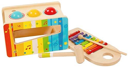 Pidoko Kids Pound and Tap Bench with Slide Out Xylophone...