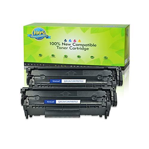 Nineleaf Compatible Laser Toner Cartridge Replacement for HP 12A Q2612A Laserjet 1012 1018 1020 1022 3015 3020 3030 3050 3052 3055 M1319 1010 1015 1022n 1022nw M1005 M1319F M1005MFP (Black,2 Pack)