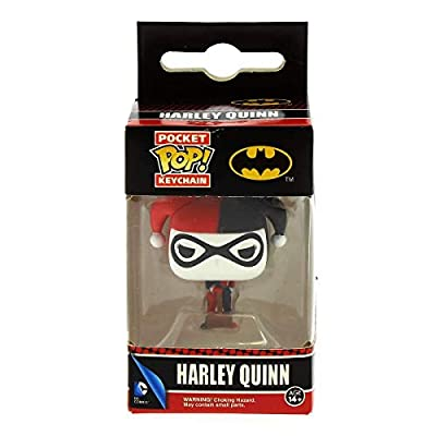 Batman Harley Quinn Pop! Vinyl Figure DC Comics Key Chain: Toys & Games