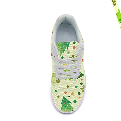 Ddkafjfj Kamille En Schedel Sport Van De Vrouwen Running Sneakers Lichtgewicht Breathabl Bootschoenen White4