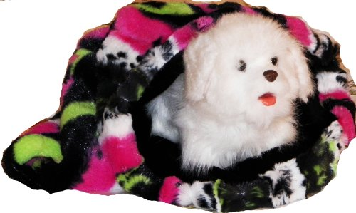 Pampered Pets My Snuggly Pet Bed, Small, Pink/Lime