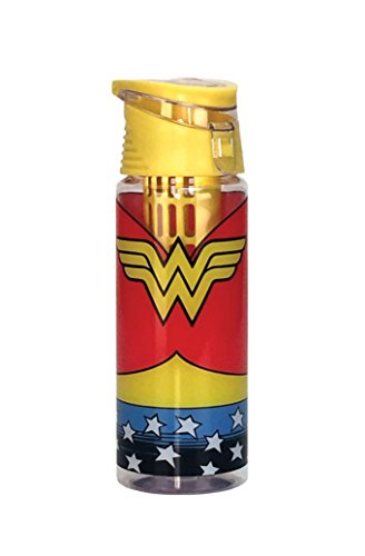 Spoontiques Wonder Woman Logo Infuser Water Bottle, Multi - Logo Water Bottle