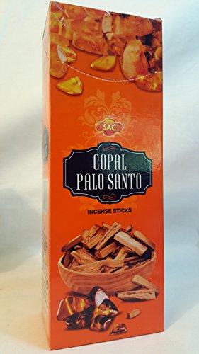 Copal Palo Santo 120 Incense Sticks Handmade in India Six Pack Box.