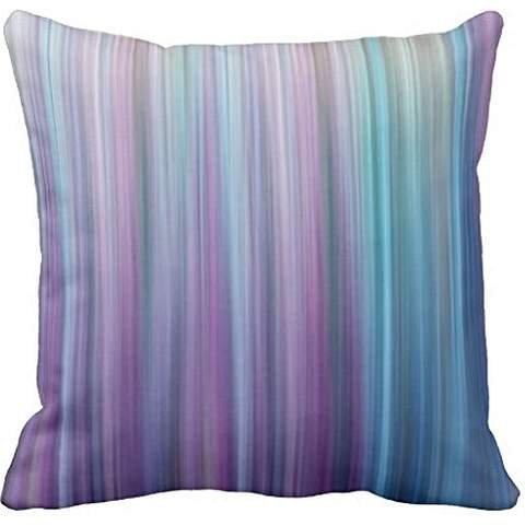 Abstract Purple and Teal Gradient Stripes Pattern Pillow case 24*24 (Abstract Stripes)