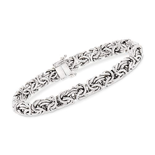 Ross-Simons Sterling Silver Byzantine Bracelet With Magnetic Clasp from Ross-Simons
