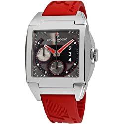 de GRISOGONO Power Breaker N01 Mens Red Rubber Strap Automatic Chronograph Watch