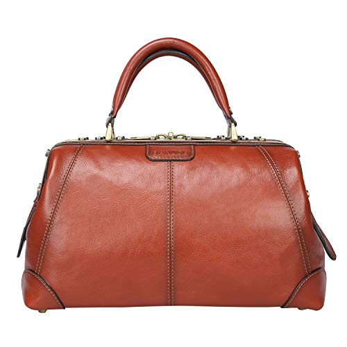 - Banuce Vintage Full Grains Italian Leather Handbag for Women Men Medical Doctor Bag Business 1-2days Travel Bag Ladies Purse