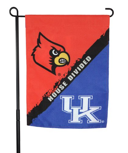 (Zokee-University of Kentucky Wildcat vs. Cardinal House Divided Garden Flag)