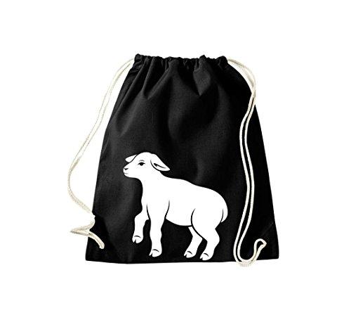 Shirtstown - Bolso de tela de algodón para mujer Negro - negro