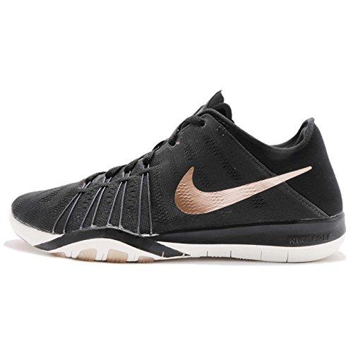 Womens Nike Free Tr 6 Scarpe Da Allenamento Nero / Mtlc Rosso Bronzo / Bianco Sommità