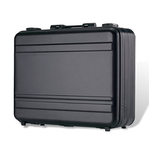 - Tokers Aluminum Briefcase Attache Cases for men Laptop Metal briefcases black (black, 18.1X13.8X4.5 inch)