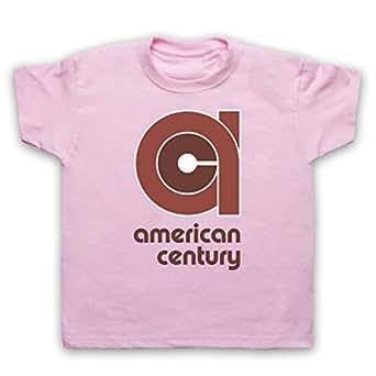 Vinyl American Century Record Label Camiseta para Niños, Rosa Claro, 12-13 Años