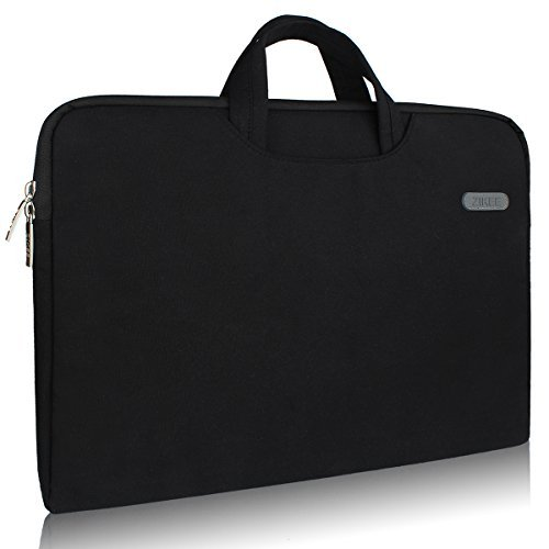 Zikee 17-17.3 Inch Water-Resistant 360°Protective Slim Briefcase Laptop Sleeve with Handle Carrying Case