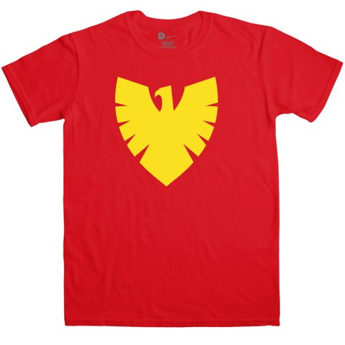Mens Superhero T Shirt - Phoenix Symbol - Red - XL