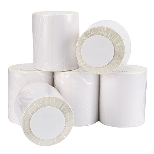 - 4x6 Blank Direct Thermal Shipping Labels For Zebra 2844 Zp-450 Zp-500 Zp-505,250/Roll,Total 6 Rolls