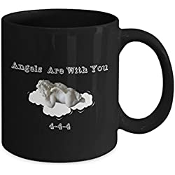 Angels Are With You 444 Coffee Mug-Faith Believe in Angels-Guardian Angel Protection Numbers