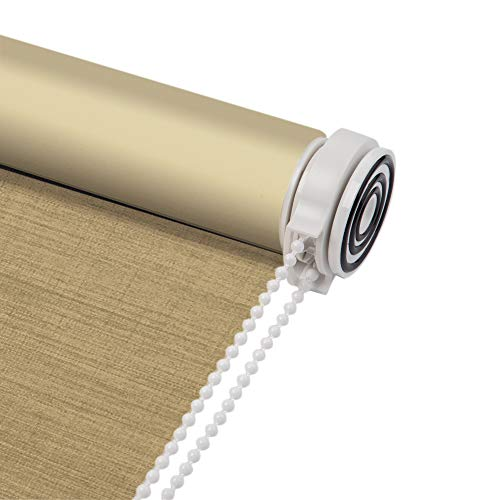 Skansen Tension Roller Blinds Blackout Linen Fabric No