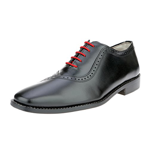 Liberty Handmade Leather Mens Classic Oxford Lace-Up Dress Shoe (8, Black)