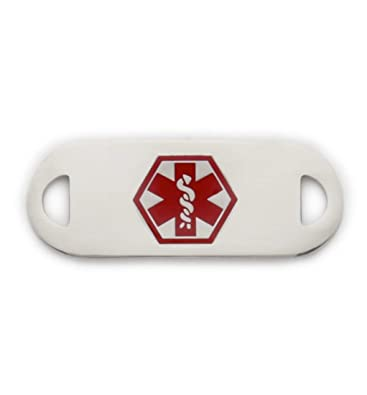 Medical Alert Stainless Bracelet ID TAG Diabetes Type 2