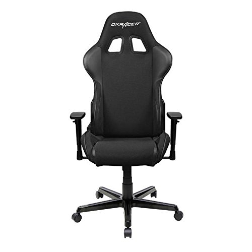 DXRacer OH/FH11/N Black Formula Series Gaming Chair Ergonomic High Backrest Office Computer Chair Esports Chair Swivel Tilt and Recline with Headrest and Lumbar Cushion + Warranty