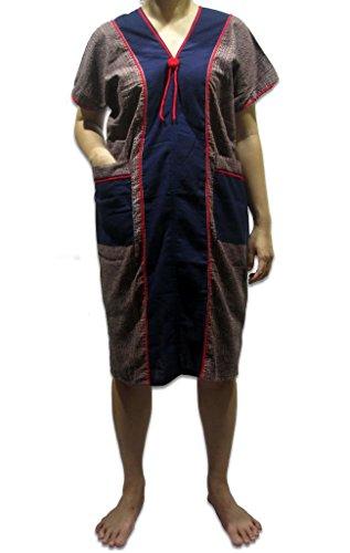 Boho Hippies Paysanne Gitane Hilltribe Robe De Coton Ethnique Tribal