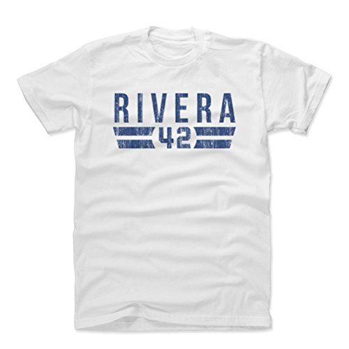 500 LEVEL Mariano Rivera Cotton Shirt (Large, White) - New York Yankees Men's Apparel - Mariano Rivera Font - Ny Shirt Yankees White
