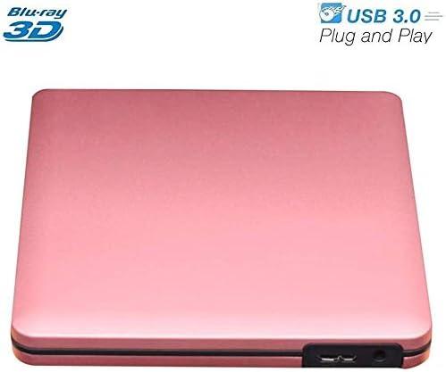 KJRJFD USB 3.0研磨された金属クロムブルーレイDVDRWドライブ、光学ドライブBD-REドライブバーナーは、Mac / Windowsの10 /ラップトップ/ PC用の3D作品をサポート (Color : 4)