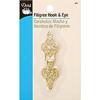 Dritz 499 Filigree Hook & Eye Closure, Gold