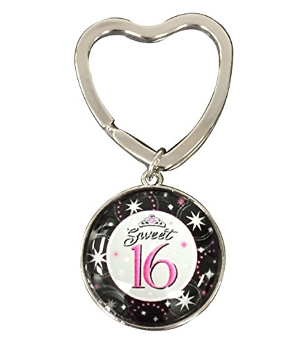 Infinity Collection Sweet 16 Gift- Sweet 16 Keychain - Sweet Sixteen Gift for Girls