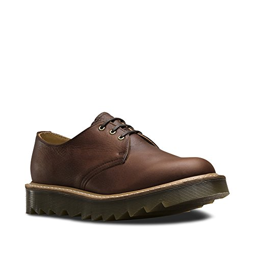 Brown Tumbled Leather Air (Dr. Martens Unisex 1461 Ripple 3-Eye Oxfords, Tan, 8 M UK, M9/W10 M US)