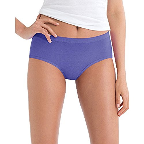 Hanes by Women's No Ride Up Low Rise Cotton Brief 6-Pack_2 Prints/2 Solids/2 -