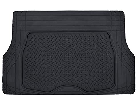 Motor Trend Heavy Duty Rubber Cargo Mat Trunk Liner for Car SUV Auto (Black) - Odorless All Weather (Vw Jetta Floor Mats 2010)