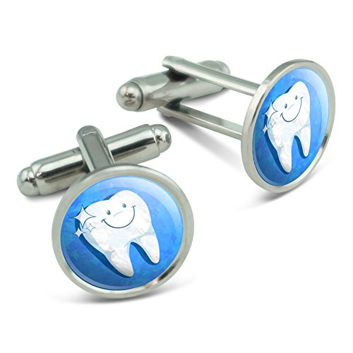 Happy Tooth Dentist Men's Cufflinks Cuff Links Set