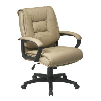 Soft Burgundy Leather Black Frame (Deluxe Mid-Back Managerial Chair with Arms Leather: Glove Soft)