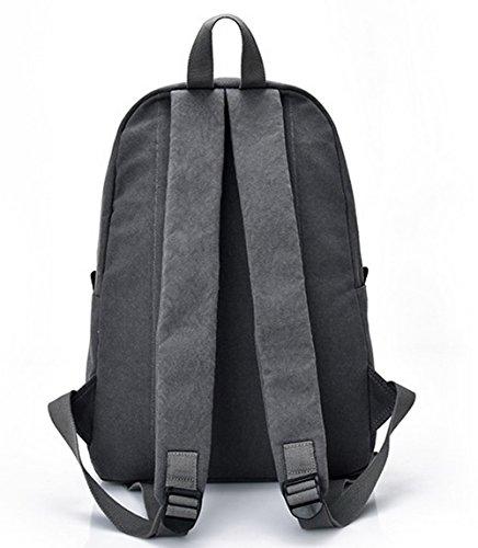 randonnée Gris Femme dos à Toile Mode Sacs Daypack de Daypacks Zippers AgooLar 4RvPwdqcP