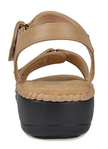 beige Sandal 05 PAIRS DREAM Wedge Women's Platform n6qYxIwp
