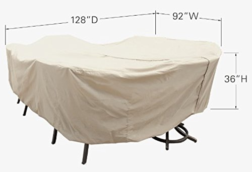 Treasure Garden X-Large Oval/Rectangle Table & Chairs w/8 ties & velcro closure - Protective Furniture Covers