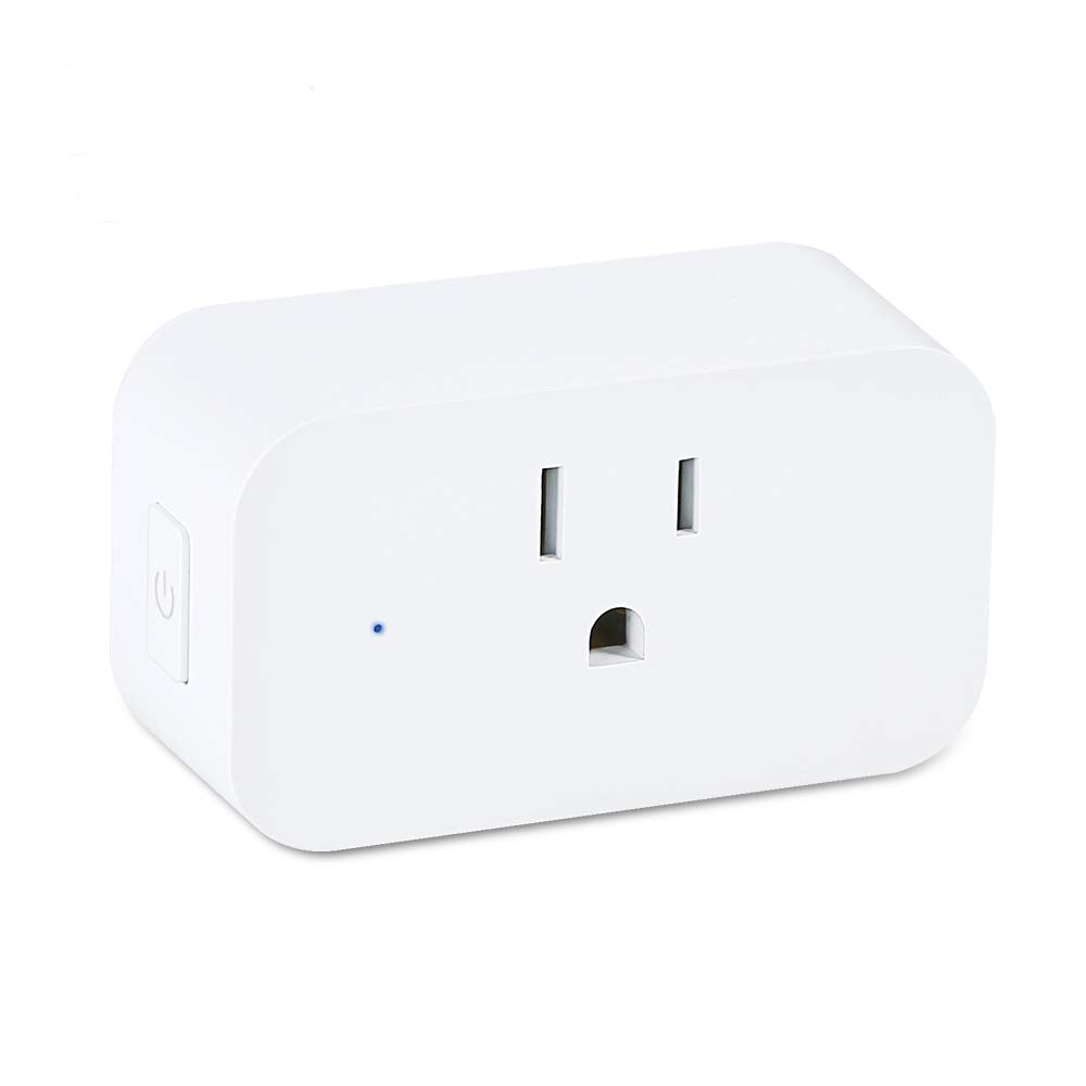 Smart Plug WiFi Outlet - SYNERKY Alexa Mini Wireless Smart Socket, Compatible with Echo Google Home and IFTTT, No Hub Required, Timing Function, WiFi Wireless Energy Saving, Remote Control Your Device