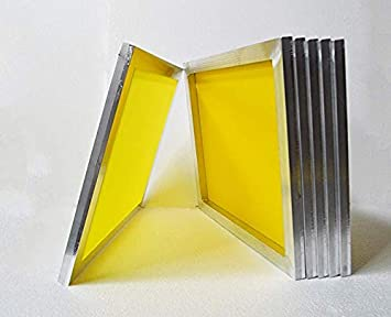 INTSUPERMAI 6pc 23Inch x31Inch Aluminum Silk Screen Frame with 230 Mesh Yellow Pre-Stretched Silk Screen Printing Frame