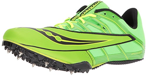 Saucony Men's Spitfire 4 Track and Field Shoe, Green/Black, 11.5 Medium US