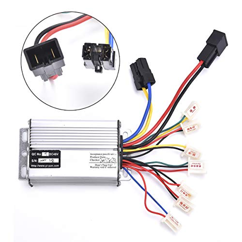 Wingsmoto Controller 48v 1000w for Brushed Electric Motor Engine Scooter with Black Battery Connector Terminal ()