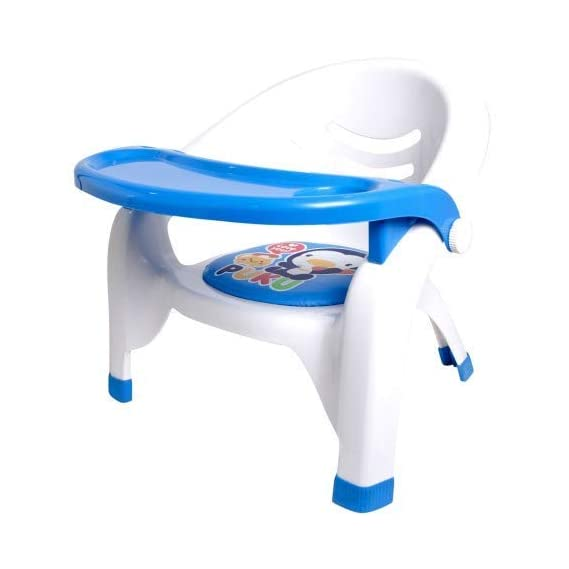 Fayby Baby Chair | Plastic Baby Feeding Chair with Safety Tray | Kids/Baby Eating and Sitting Chair with Front Food Tray