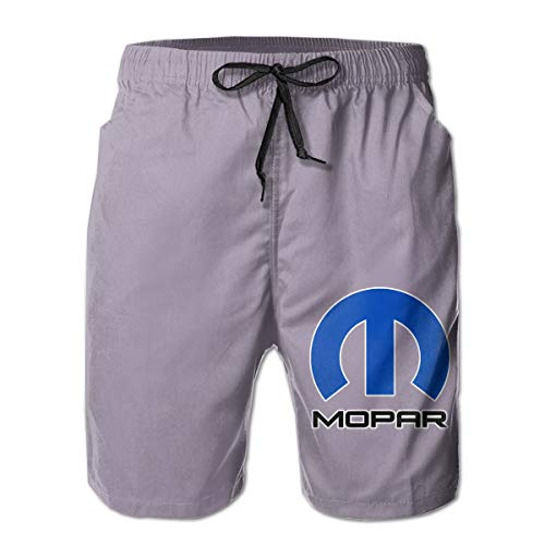 Mopar Short - Mens Mopar Classic Quick Dry Swim Trunks Elastic Drawstring Surfing Shorts White