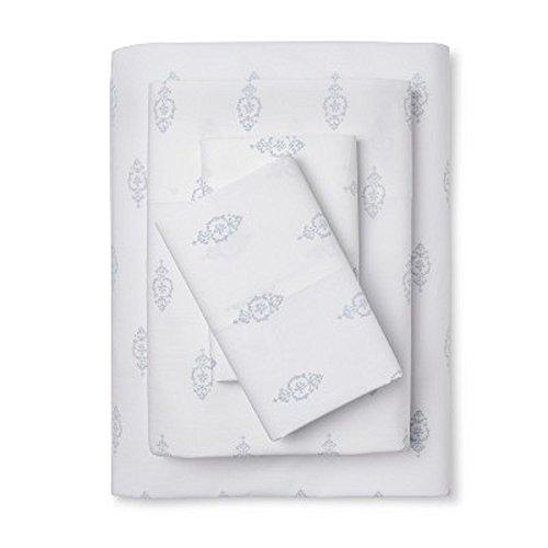 Simply Shabby Chic Damask Print Sheet Set Blue (Simply Shabby Chic Pillow)