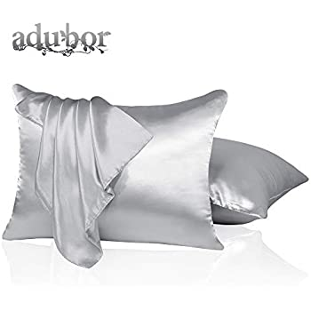 Amazon Com Adubor Luxury Silky Pillowcases With Hidden